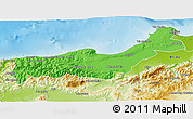 Political 3D Map of Tipaza, physical outside