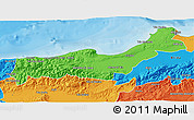 Political 3D Map of Tipaza