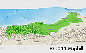Political 3D Map of Tipaza, shaded relief outside