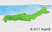 Political 3D Map of Tipaza, single color outside