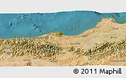 Satellite 3D Map of Tipaza