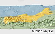 Savanna Style 3D Map of Tipaza