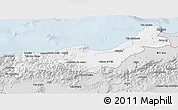 Silver Style 3D Map of Tipaza