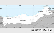 Gray Simple Map of Tipaza