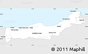 Silver Style Simple Map of Tipaza, single color outside
