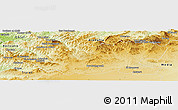 Physical Panoramic Map of Tissemsilt