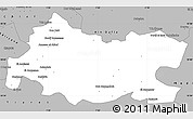 Gray Simple Map of Tissemsilt