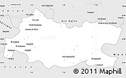 Silver Style Simple Map of Tissemsilt