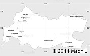 Silver Style Simple Map of Tissemsilt, single color outside