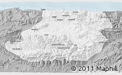 Gray 3D Map of Tizi-ouzou