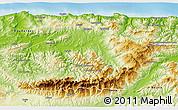 Physical 3D Map of Tizi-ouzou