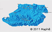 Political 3D Map of Tizi-ouzou, cropped outside