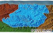Political 3D Map of Tizi-ouzou, darken