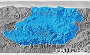 Political 3D Map of Tizi-ouzou, desaturated