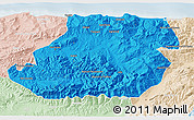 Political 3D Map of Tizi-ouzou, lighten