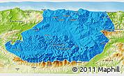 Political 3D Map of Tizi-ouzou, physical outside