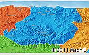 Political 3D Map of Tizi-ouzou