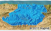 Political 3D Map of Tizi-ouzou, satellite outside