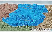 Political 3D Map of Tizi-ouzou, semi-desaturated