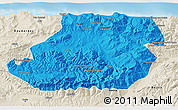 Political 3D Map of Tizi-ouzou, shaded relief outside