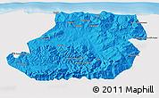 Political 3D Map of Tizi-ouzou, single color outside