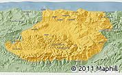 Savanna Style 3D Map of Tizi-ouzou
