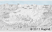 Silver Style 3D Map of Tizi-ouzou