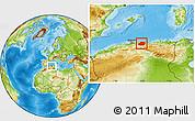 Physical Location Map of Tizi-ouzou