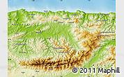 Physical Map of Tizi-ouzou