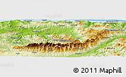 Physical Panoramic Map of Tizi-ouzou