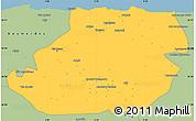 Savanna Style Simple Map of Tizi-ouzou