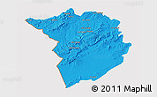 Political 3D Map of Tlemcen, cropped outside
