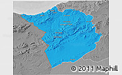 Political 3D Map of Tlemcen, desaturated