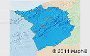 Political 3D Map of Tlemcen, lighten