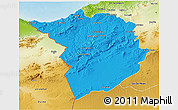 Political 3D Map of Tlemcen, physical outside