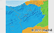Political 3D Map of Tlemcen