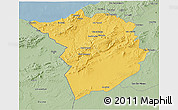Savanna Style 3D Map of Tlemcen