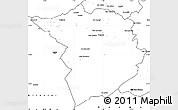 Blank Simple Map of Tlemcen