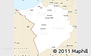 Classic Style Simple Map of Tlemcen