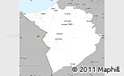 Gray Simple Map of Tlemcen