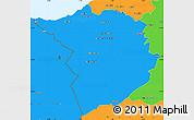 Political Simple Map of Tlemcen