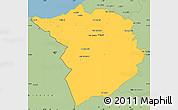 Savanna Style Simple Map of Tlemcen