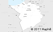Silver Style Simple Map of Tlemcen