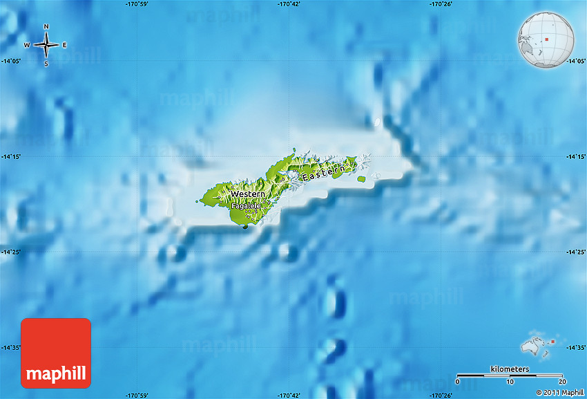 physical map of american samoa