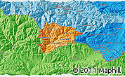 Political Shades 3D Map of Andorra