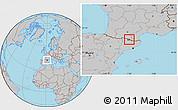 Gray Location Map of Canillo