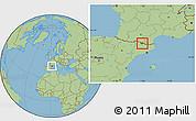 Savanna Style Location Map of Encamp