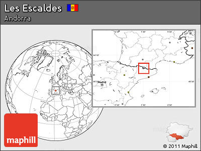 Blank Location Map of Les Escaldes