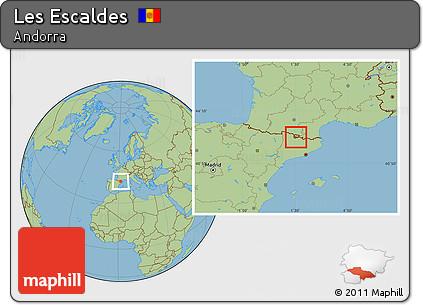Savanna Style Location Map of Les Escaldes