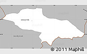 Gray Simple Map of Les Escaldes